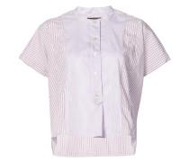 Gestreiftes Hemd mit kurzen Ärmeln