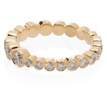 18kt 'Croissant' Goldring mit Diamanten