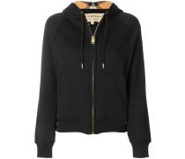 hooded zipped cardigan