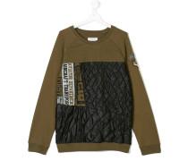 padded panel sweatshirt