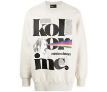 Sweatshirt mit Regenbogenstrahl-Print