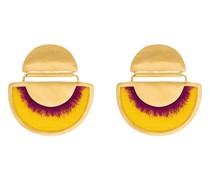24kt vergoldete Ohrringe mit Seidenfransen