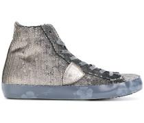 Hight-Top-Sneakers mit Pailletten