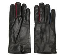 Handschuhe mit Kontrasteinsätzen