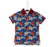 tiger print polo shirt