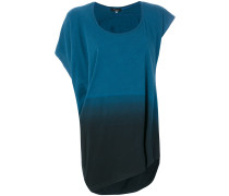 Asymmetrisches T-Shirt mit Farbverlauf