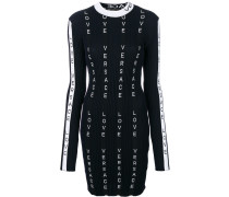 ribbed logo fitted dress