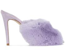 Sandalen mit Kaninchenpelz