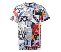 T-Shirt mit Collage-Print - men - Baumwolle - S