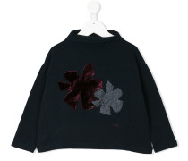 Sweatshirt mit Blumen-Patches