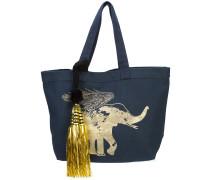Shopper mit goldfarbenem Elefanten