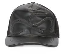 snake embossed baseball cap