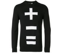 Sweatshirt mit '+ - ='-Print