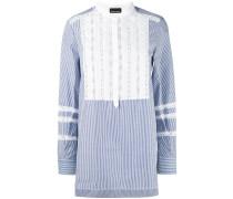 Gestreiftes Hemd mit Latz - women - Baumwolle