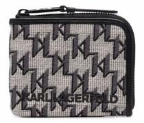 K/Monogram Jacquard-Portemonnaie
