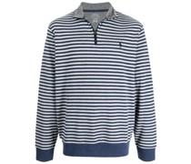 Gestreiftes Sweatshirt mit Reißverschluss