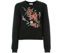 Sweatshirt mit floraler Stickerei