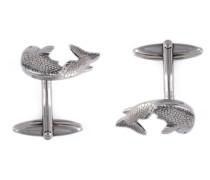 Manschettenknöpfe mit Fischdesign