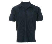 ribbed effect polo shirt