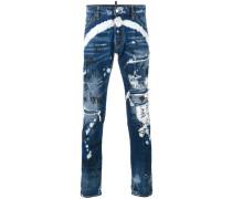 'Grafitti' Jeans in Distressed-Optik