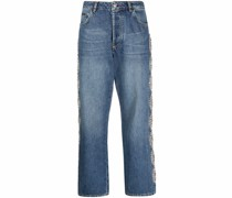 Crystal Cable Wide-Leg-Jeans