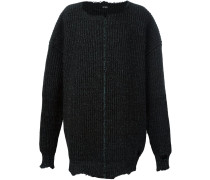 oversized ribbed jumper