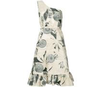 - Gemustertes Kleid mit einschultrigem Design