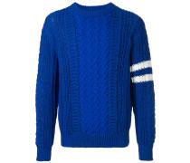 contrast panel sweater