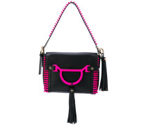 contrast trim shoulder bag - women - Leder