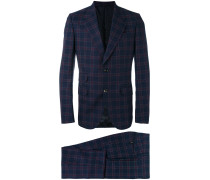 checked two-piece suit - men - Bemberg