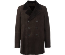 notched double breasted coat