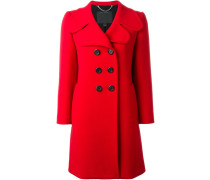 Doppelreihiger Mantel mit breitem Revers