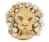 Perlenring im Löwendesign