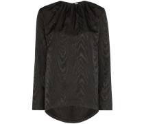 Geraffte Bluse mit Print