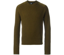Gerippter Pullover mit Patches