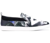 Medusa print sneakers - men - Leder/Foam Rubber