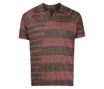 Poloshirt mit unregelmäßigen Streifen