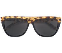 Rechteckige Sonnenbrille mit Leoparden-Print