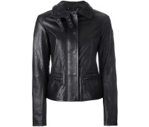 jacket with quilted collar and biker detail