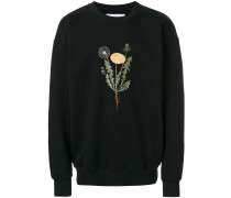 Sweatshirt mit Löwenzahnstickerei