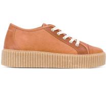Wedge-Sneakers mit gerippter Sohle