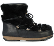 low shearling boots