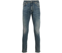 faded slim jeans