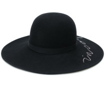 scribble trilby hat