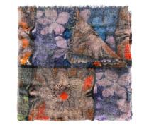 Schurwollschal mit floralem Muster