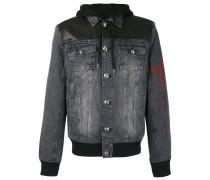 - Jeansjacke mit abnehmbarer Kapuze - men