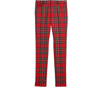 tartan tailored trousers