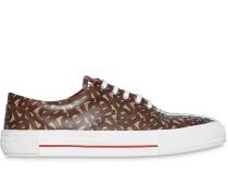 'Monogram' Sneakers mit Streifen