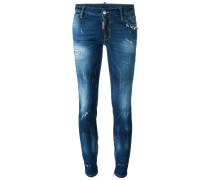 'Skinny' Jeans mit mittelhohem Bund