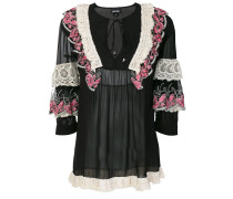 ruffle and lace trim blouse